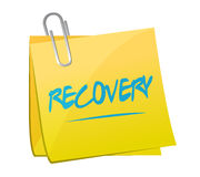 Recovery memo post illustration design Royalty Free Stock Photos