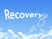 Recovery message cloud shape vector illustration