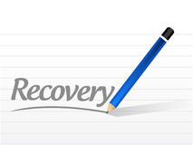 Recovery message sign illustration design Royalty Free Stock Photo
