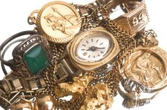 Recovery of old jewels Royalty Free Stock Images