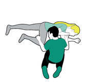 Recovery position illustration Royalty Free Stock Photography