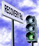 Recovery road Royalty Free Stock Photos