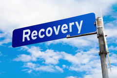 Recovery Road Sign Stock Photography