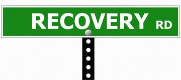 Recovery Road Sign Royalty Free Stock Images