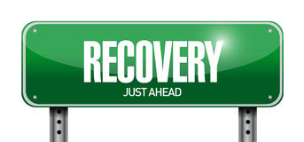 Recovery road sign illustration design Stock Images