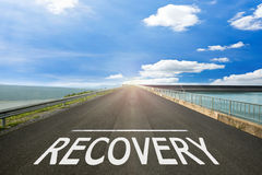 RECOVERY - Road surface of begin to the summer. Royalty Free Stock Image