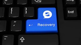 522. Recovery Rotation Motion On Computer Keyboard Button. vector illustration