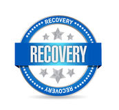 Recovery seal illustration design Stock Image
