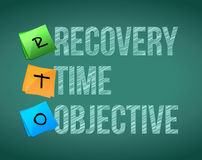 Recovery time objective Stock Photo