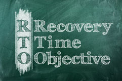 Recovery Time Objective Royalty Free Stock Photo