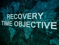 Recovery Time Objective Royalty Free Stock Photography
