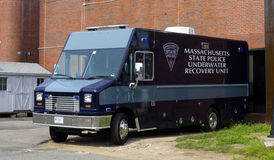Recovery Unit. Massachusetts state police underwater recovery unit vehicle royalty free stock photography