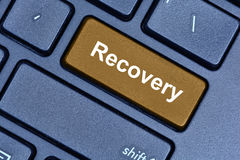 Recovery word on computer keyboard Stock Photo