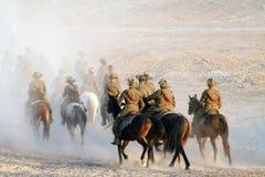 A recreação da carga de cavalaria 100 anos de ANZAC Imagens de Stock