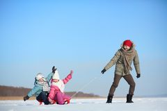 Recreação do inverno Imagem de Stock