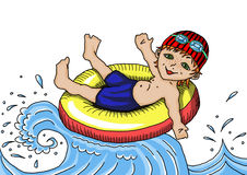 Recreação na água Banho de mar Imagens de Stock Royalty Free