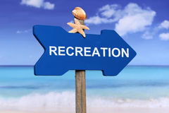 Recreatie op het strand in de zomervakantie Royalty-vrije Stock Fotografie