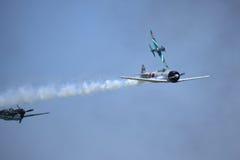 Recreatie van het LuchtGevecht van WO.II Royalty-vrije Stock Foto's