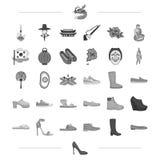 Recreatie, vermaak, het pictogram van Carnaval aweb in zwarte stijl Nd ander suède, rubber, toerismepictogrammen in vastgestelde  vector illustratie