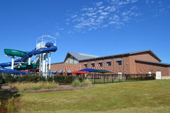 Recreatiecentrum met waterpark Stock Afbeeldingen