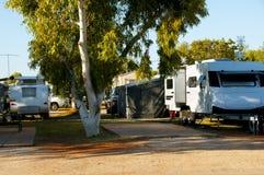 Recreatief Caravanpark royalty-vrije stock fotografie