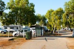 Recreatief Caravanpark royalty-vrije stock afbeeldingen