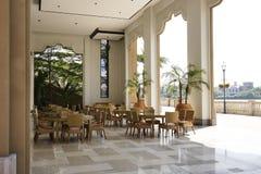 Recreatief gebied van hotel stock foto
