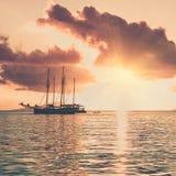 Recreatief Jacht in de Indische Oceaan stock afbeelding