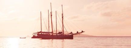 Recreatief Jacht in de Indische Oceaan royalty-vrije stock fotografie