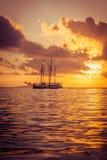 Recreatief Jacht in de Indische Oceaan royalty-vrije stock foto's