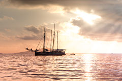 Recreatief Jacht in de Indische Oceaan stock fotografie