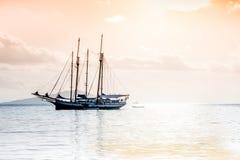Recreatief Jacht in de Indische Oceaan stock foto's