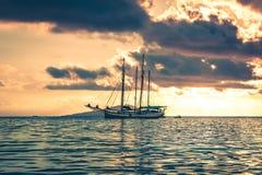 Recreatief Jacht in de Indische Oceaan stock foto