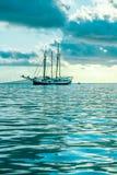 Recreatief Jacht in de Indische Oceaan royalty-vrije stock afbeelding