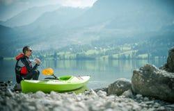 Recreatief Meer Kayaking royalty-vrije stock foto