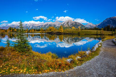Recreatief toerisme in Canmore royalty-vrije stock afbeeldingen