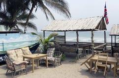 Recreatiegebied voor de Europese toeristen in Ghana Royalty-vrije Stock Afbeeldingen