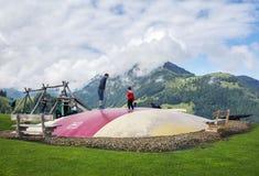Recreatiepark in Fieberbrunn, Oostenrijk Royalty-vrije Stock Afbeeldingen