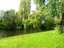 Recreatieplaats Gaasperplas in Amsterdam, Holland, Nederland stock foto's