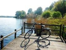 Recreatieplaats Gaasperplas in Amsterdam, Holland, Nederland royalty-vrije stock foto