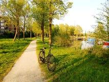 Recreatieplaats Gaasperplas in Amsterdam, Holland, Nederland stock foto