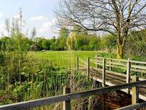 Recreatieplaats Gaasperplas in Amsterdam, Holland, Nederland royalty-vrije stock fotografie