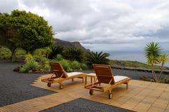 Recreatieve stoel met oceaanmening Royalty-vrije Stock Afbeeldingen