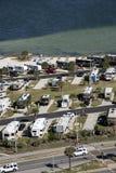 Recreatieve voertuigen op de waterkant Florida de V.S. Royalty-vrije Stock Foto
