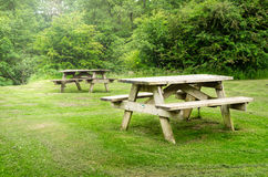 Recreation Area along a Forest Path Royalty Free Stock Photography