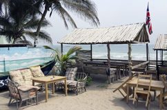 Recreation area for the European tourists in Ghana Royalty Free Stock Images