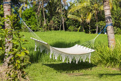 Recreation area and green rice terraces in Ubud, Bali, Indonesia Stock Photo