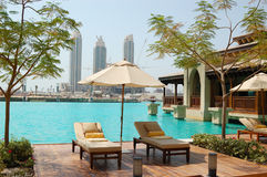 Recreation area at hotel in Dubai downtown Stock Images
