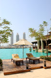 Recreation area at hotel in Dubai downtown, UAE Royalty Free Stock Photos