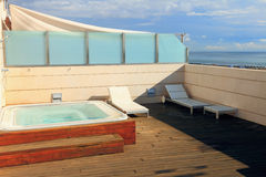 Recreation area with jacuzzi Royalty Free Stock Photo